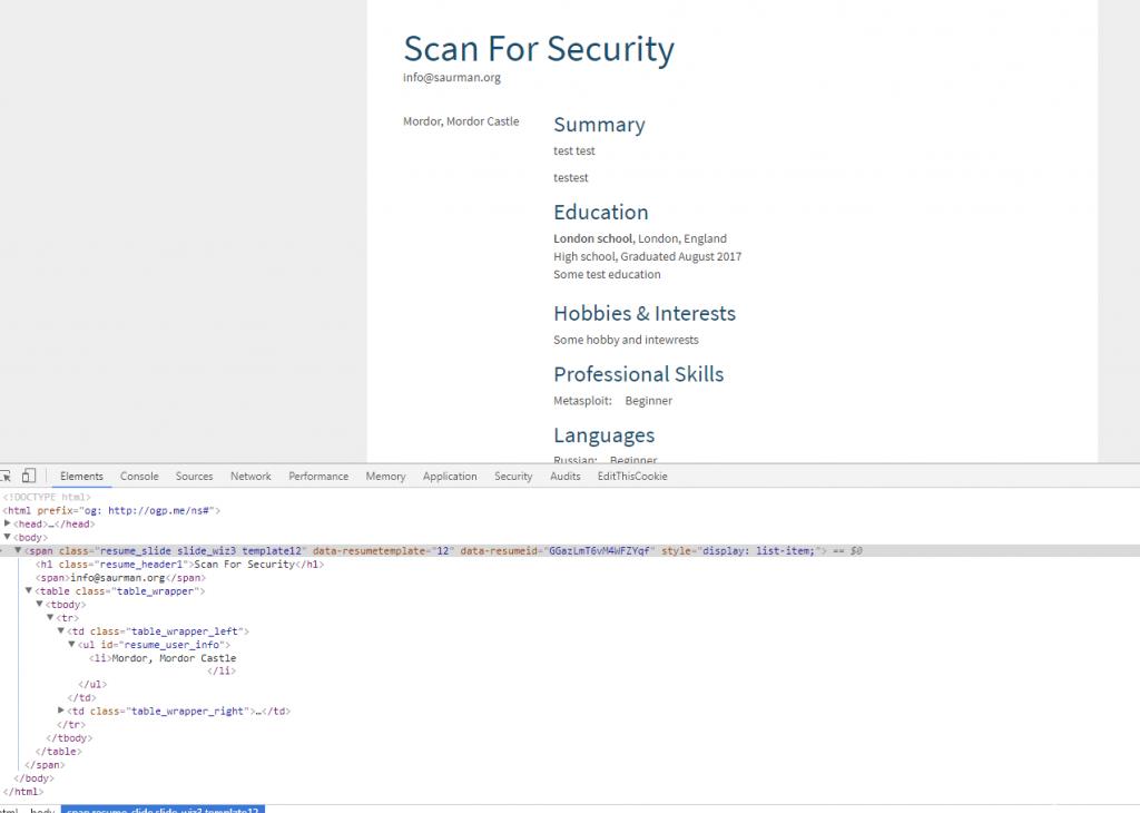 ready html cv